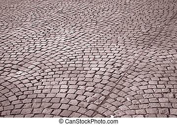 Cobble Stone Street Background, Paris, France