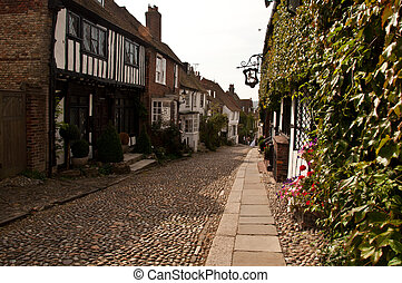 Cobble street in old Rye town