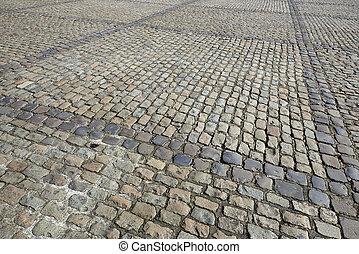 cobbled, dettaglio, strada