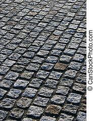 Cobbled paving - Concept picture of a cobble stone pavment.