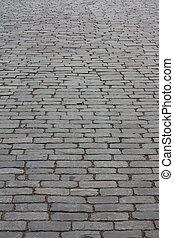 Cobbled roadway