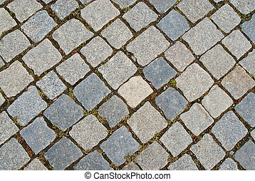 cobbled, strada, fondo