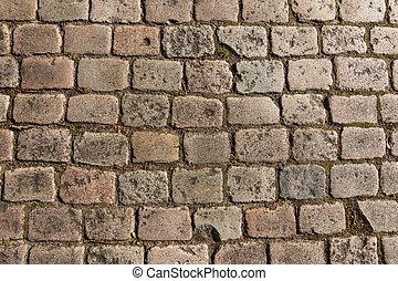 cobbled, strada, vecchio, fondo