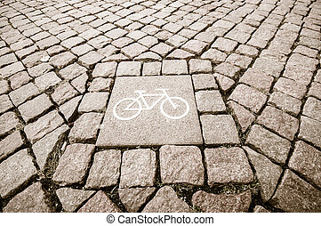 cobbled street in Berlin, Germany