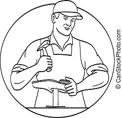 Cobbler Shoemaker or Cordwainer Shoe Repair Repairing and ...