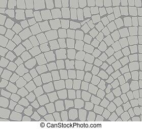 cobbles area - cobbles, area. Vector illustration