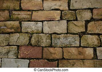 Cobbled stone floor. Textured background