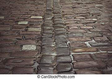 Cobblestone after the rain