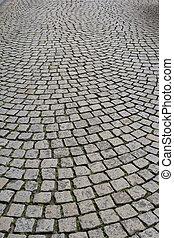 cobblestone, bestrating, oud