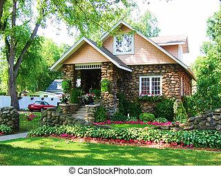 cobblestone, casa, 3