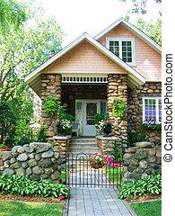 cobblestone, hus