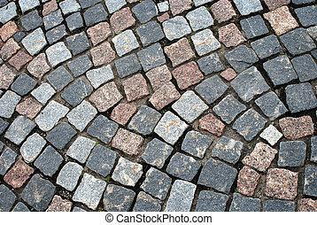 cobblestone, oud, straat