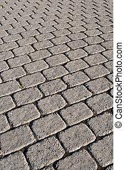 Cobblestone Path - A cobblestone path with square bricks ...