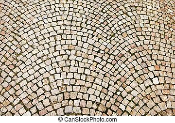 Cobblestone Pattern On Czech Street - Cobblestones on a...