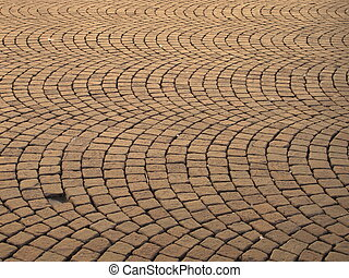 Cobblestone paved street - Roman paved street in Rieti