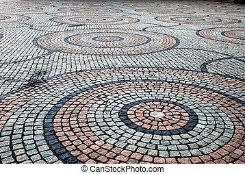 cobblestone straat