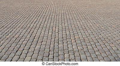 cobblestone straat, textuur