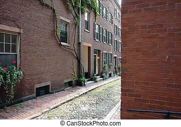 Cobblestone Street in Boston