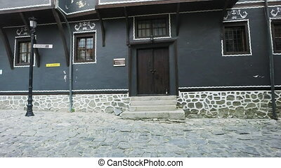 Cobblestone streets and Authentic Old Houses in Plovdiv,...