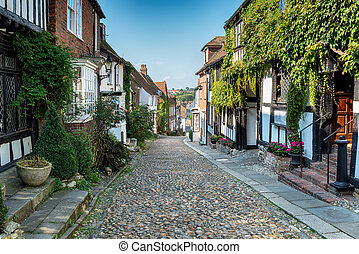 Cobblestone Streets in Rye - Picturesque cobblestone street...