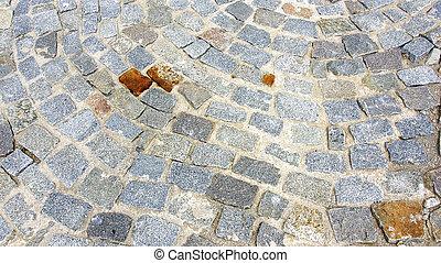 Cobblestone streets of Barcelona