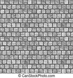 A seamless tiling texture. Illustration of cobblestones