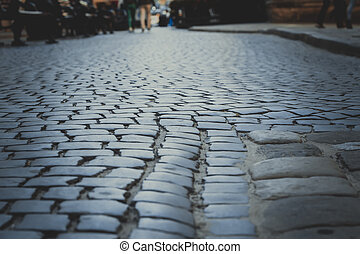 Cobblestones in the city center