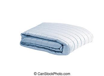 cobertor, fundo branco, isolado