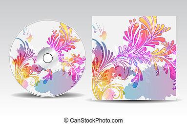 cobertura, desenho, cd