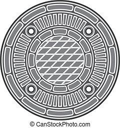 cobertura, manhole