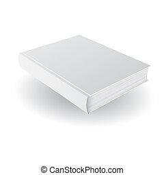 cobertura, template., vetorial, em branco, branca, livro