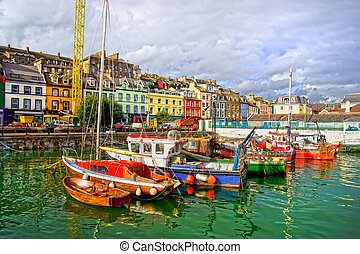 Cobh in Ireland - Picturesque scenery of the Cobh town...