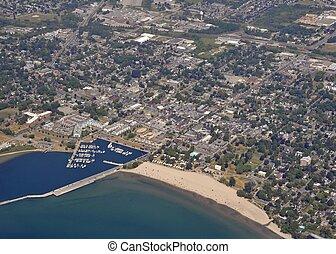 Cobourg, Ontario aerial