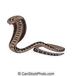 Cobra african snake scribble