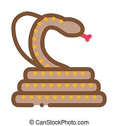 cobra anaconda malaysia icon vector outline illustration - ...