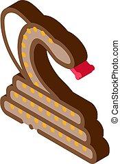 cobra anaconda malaysia isometric icon vector illustration...