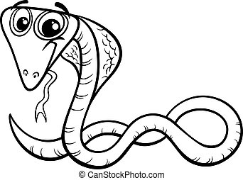 cobra cartoon coloring page
