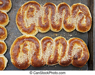 cobra, dado forma, pão doce