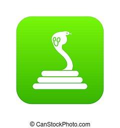 Cobra icon digital green