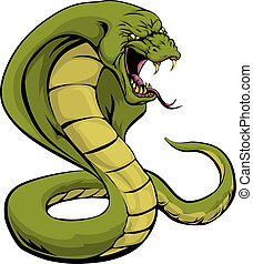 Cobra snake about to strike - An illustration of a cobra ...