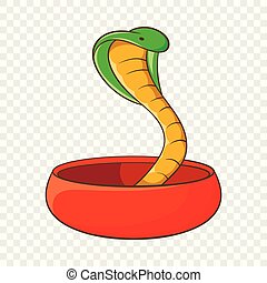 Cobra snake coming out of a bowl icon