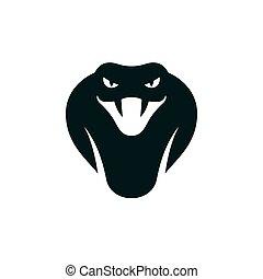 cobra snake head - Cobra head icon or logo. Stylized snake ...
