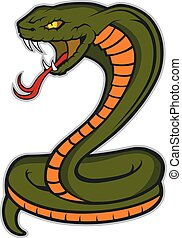 Clipart picture of a cobra snake cartoon mascot character