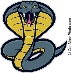 Clipart picture of a cobra snake cartoon mascot logo character