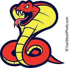 Cobra snake mascot - Clipart picture of a cobra snake...