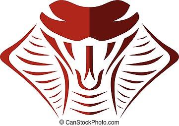 cobra snake sign symbol icon logo logotype template vector