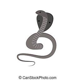 cobra, vetorial, cobra