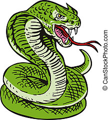 Cobra Viper Snake - Illustration of a cobra viper snake...