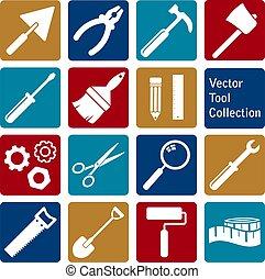 cobrança, ícones, vetorial, ferramenta