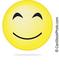 cobrança, de, smiles., vetorial, illustration.
